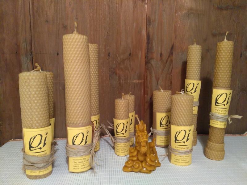 świece z wosku pszczelego